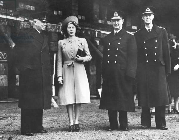 Princess Elizabeth launches Britain's mightiest battleship, Dec. 1944