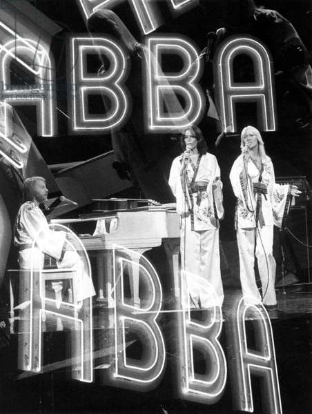 ABBA performing on an NBC program in 1976.