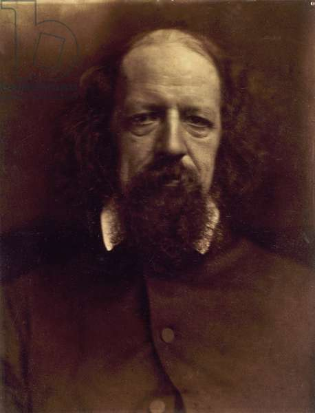 Alfred Tennyson (1809-1892), Poet Laureate of England, in an 1867 portrait by Julia Margaret Cameron (1815-1879)