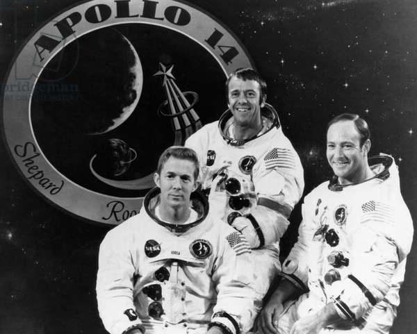 The crew of Apollo 14, 1971
