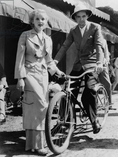 Howard Hughes 1905-1976 with actress Ida Lupino 1918-1995 in Miami Florida 1937. LC-USZ62-120724