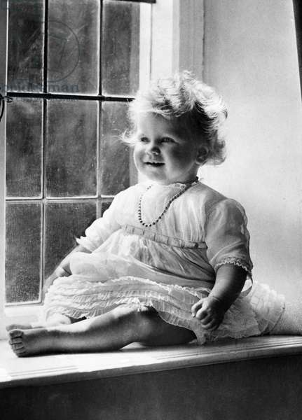Princess Elizabeth, (the future Queen Elizabeth II), 1927.