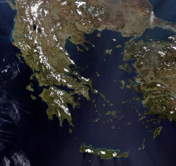 GREECE. Images of Greece and Turkey taken by NASA¿s Terra satellite in 2003