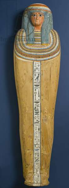 Coffin of Shep en-Mut, 800 BC (wood, plaster & pigment)