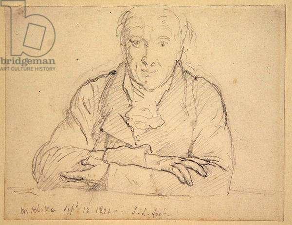 Half length of Blake, full face, arms crossed, 1821 (graphite on paper)