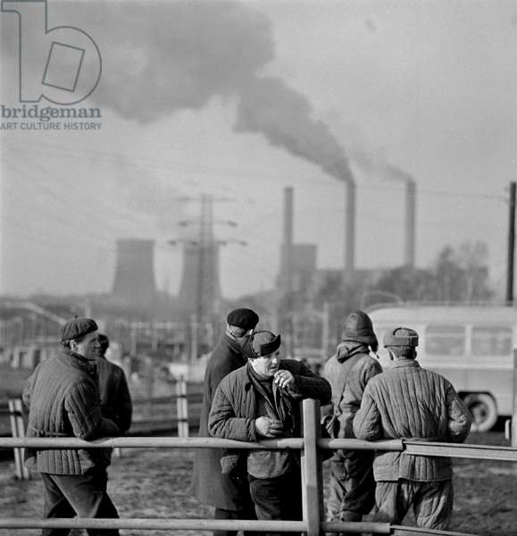 Turow, 1950-1960s. Turow mining and power plant, Turoszow brown coal open-pit mining.
