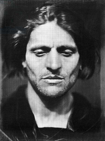 CAMERON: IAGO, 1867 'Iago - Study from an Italian.' Photograph by Julia Margaret Cameron, 1867.