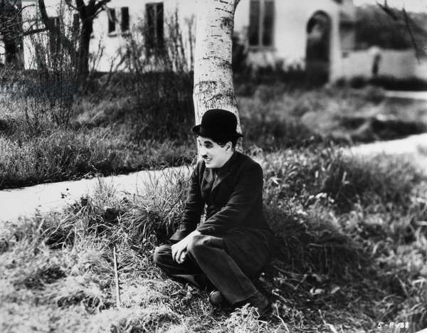 CHAPLIN: MODERN TIMES, 1936 Charlie Chaplin in a scene from the film 'Modern Times,' 1936.