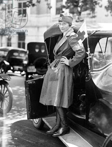 RED CROSS, 1917 A member of the American Red Cross Motor Corps, 1917.
