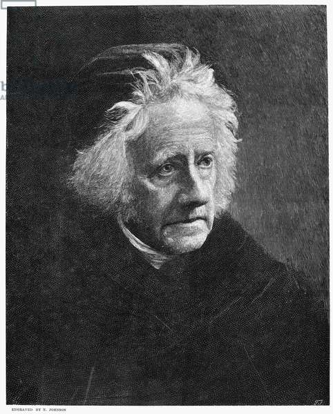 JOHN HERSCHEL (1792-1871) Sir John Frederick William Herschel. English astronomer. Wood engraving after a photograph by Julia Margaret Cameron.