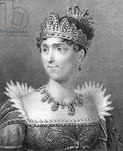 JOSEPHINE DE BEAUHARNAIS (1765-1814). Empress of the French, 1804-1809. Line and stipple engraving, 1829.