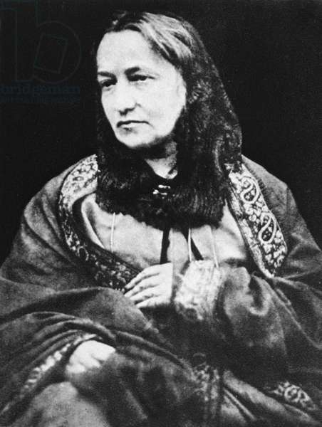 JULIA MARGARET CAMERON (1815-1876). English photographer. Photographed in 1870 by her son, Henry Herschel Hay Cameron.