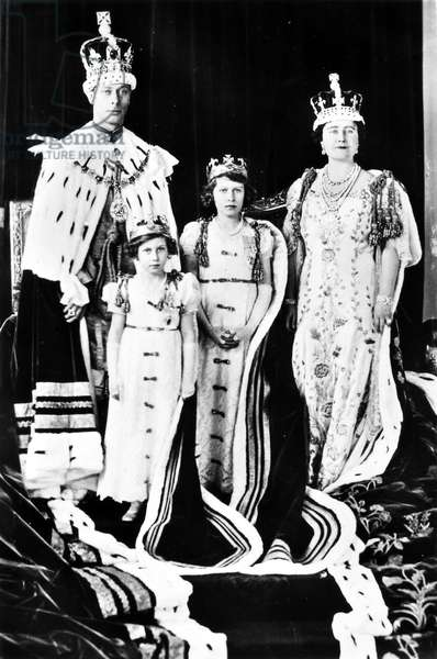 ELIZABETH II (1926- ) Queen of England, 1952- . Coronation of King George VI & Queen Elizabeth. Photographed in 1937.