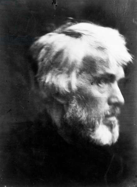 THOMAS CARLYLE (1795-1881) Scottish man of letters. Photograph, 1867, by Julia Margaret Cameron.