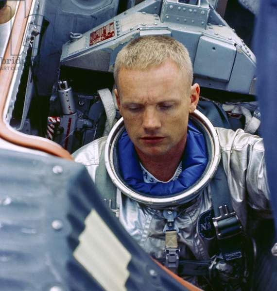 NEIL ARMSTRONG (1930-2012) American astronaut. Photographed during training for the Gemini 5 mission, 1965.