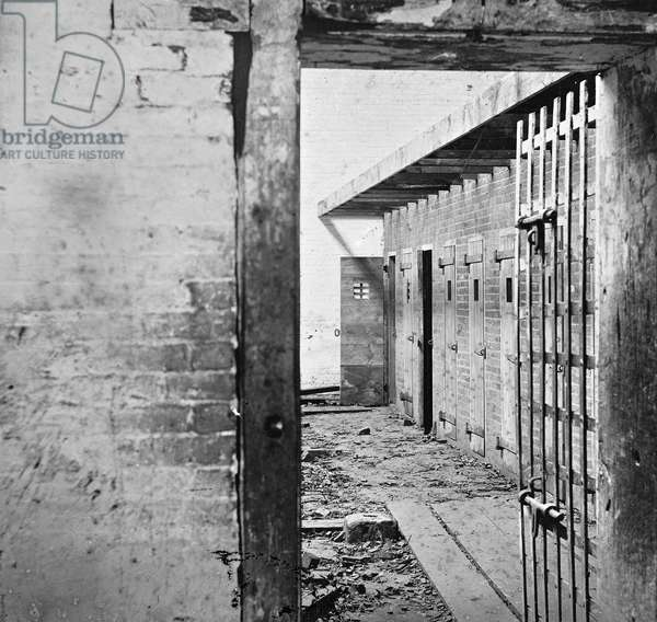 VIRGINIA: SLAVE PEN, c.1861 Slave pens at Alexandria, Virginia. Photographed c.1861-69.