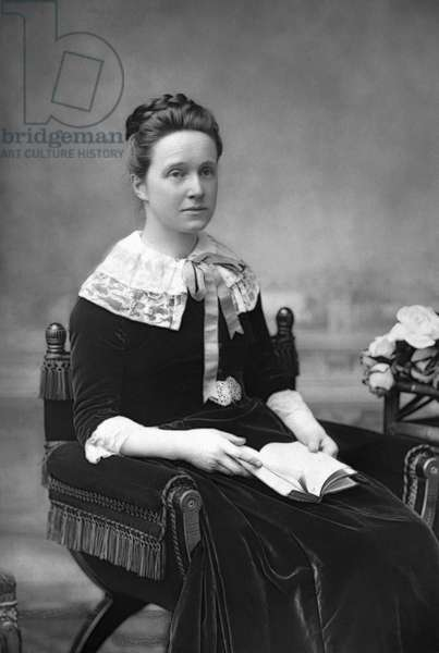 MILLICENT FAWCETT (1847-1929) British suffragist and feminist. Photograph by W. & D. Downey, c.1890.