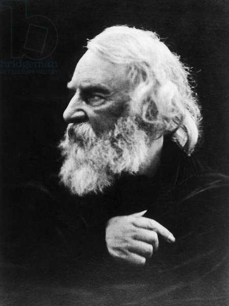 HENRY WADSWORTH LONGFELLOW (1807-1882). American poet. Photographed by Julia Margaret Cameron, 1868.