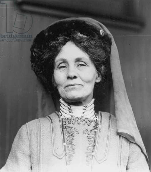 EMMELINE PANKHURST (1858-1928). English woman-suffragist. Photographed in 1909.