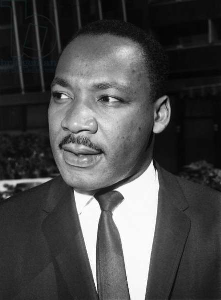 MARTIN LUTHER KING, JR (1929-1968). American cleric and civil rights leader. Photograph, 1964.