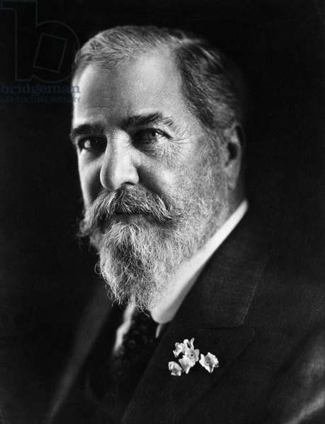 LOUIS COMFORT TIFFANY (1848-1933). American painter and stained-glass artist. Photograph, c.1910.