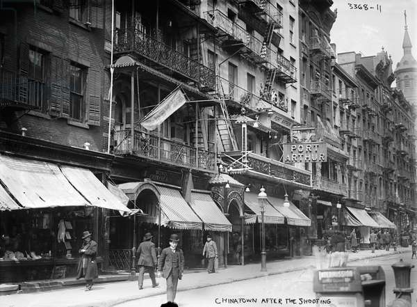 NEW YORK: CHINATOWN, c.1912 Mott Street in Chinatown, New York City. Photograph, c.1912.