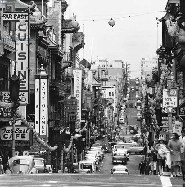 SAN FRANCISCO: CHINATOWN A view of Chinatown in San Francisco, California. Photograph, c.1965.