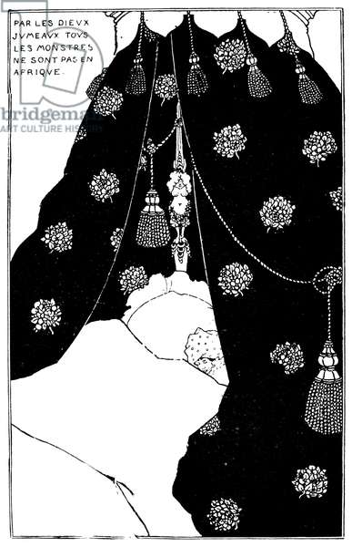 BEARDSLEY: YELLOW BOOK Self-portrait of Aubrey Vincent Beardsley from 'The Yellow Book.'