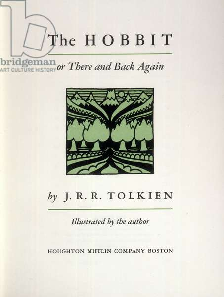 TOLKIEN: THE HOBBIT Title page for a 1966 American edition. By J.R.R. Tolkien, first published in 1937.