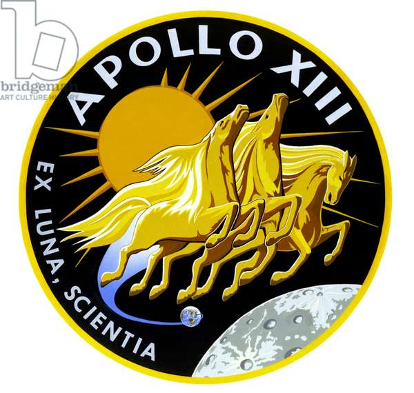 APOLLO 13: INSIGNIA, 1970 Official insignia of the Apollo 13 mission, 1970.