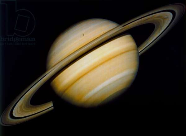 SATURN, c.1980 The planet Saturn and its rings. Photographed by a NASA spacecraft, c.1980.