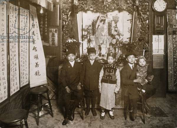 CHINESE NEW YEAR, 1911 Five boys dressed up for the Chinese New Year's celebration in New York City's Chinatown, 30 January 1911.