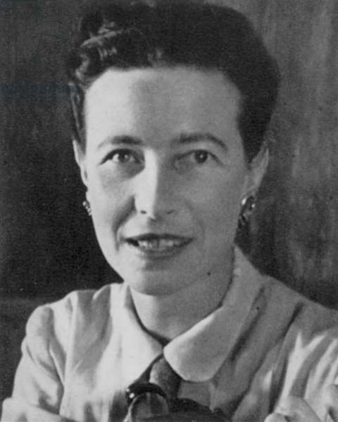 SIMONE DE BEAUVOIR (1908-1986). French writer.