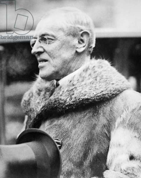 WOODROW WILSON, 1918 President Woodrow Wilson reviewing troops towards the end of World War I.