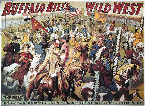 BUFFALO BILL POSTER, 1908 Poster for Buffalo Bill Cody's Wild West Show.