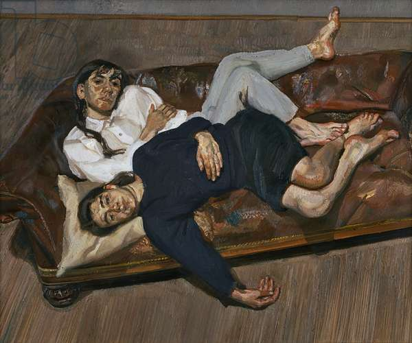 Bella and Esther, 1987-88 (oil on canvas)