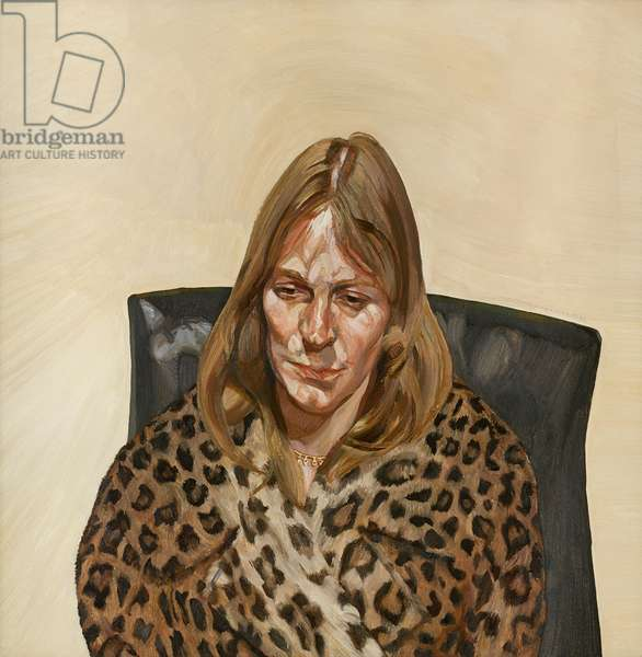 Woman in a Fur Coat, 1967-68 (oil on canvas)