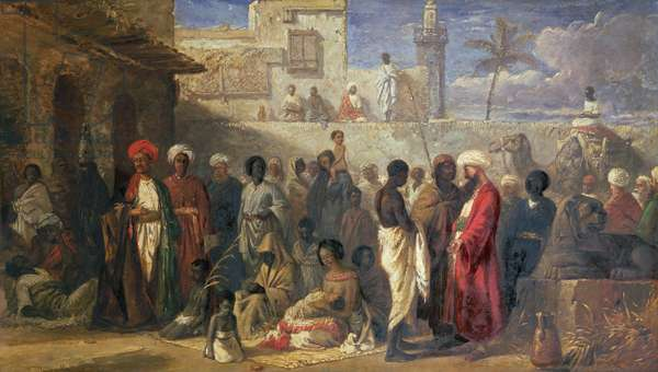 The Slave Market at Cairo, 1841 (oil on canvas) (for detail see 76745)