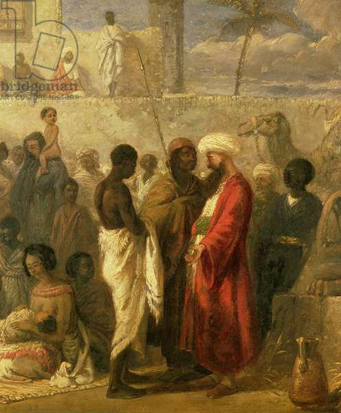 The Slave Market at Cairo, 1841 (oil on canvas) (detail of 13673)