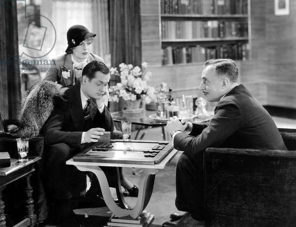 Billie Dove, Robert Montgomery, Douglas Dumbrille, on-set of the Film