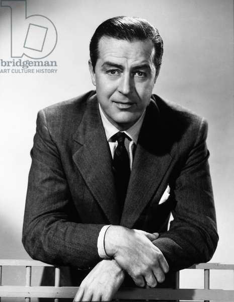 Actor Ray Milland, Portrait, 1951 (b/w photo)