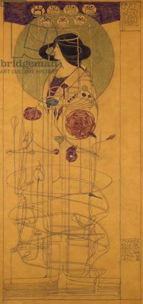 Part Seen, Imagined Part, 1896 (pencil & w/c on tracing paper)