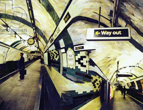 Way Out (Russell Square) 1998 (paper mosaic collage)