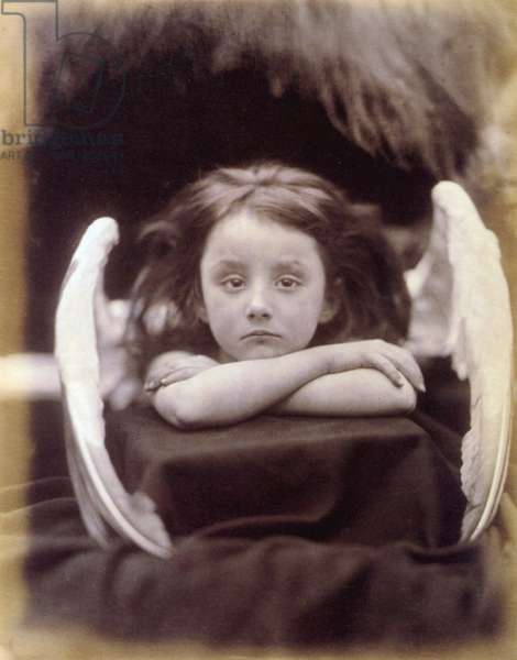 I Wait (Rachel Gurney as an Angel), 1872 (b/w photo)