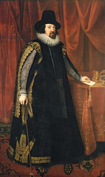 Sir Francis Bacon (1561-1626) Baron Verulam of Verulam, Viscount St. Albans (oil on canvas)