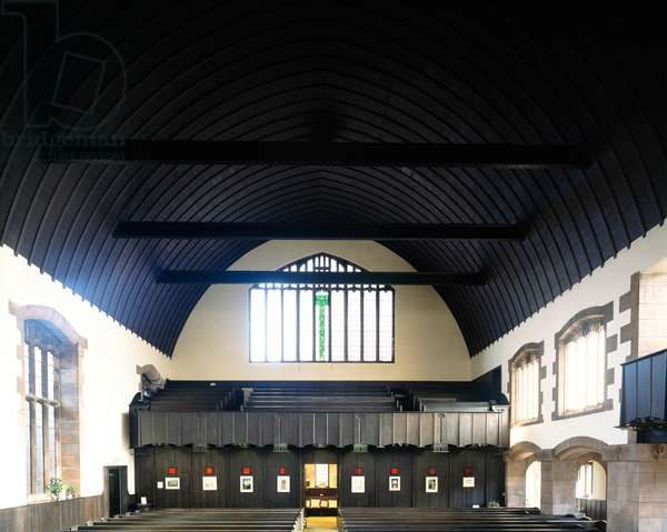 Interior view of the Queen's Cross Church designed by Charles Rennie Mackintosh (photo)