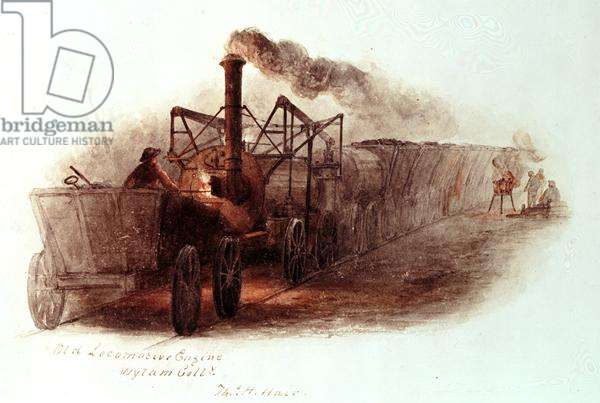 Old Locomotive Engine, Wylam Colliery