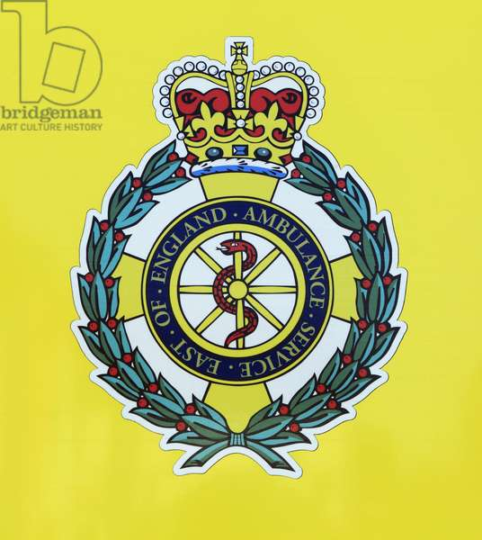 East of England Ambulance Service logo badge (colour litho)