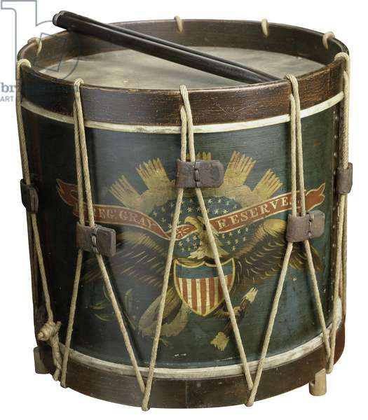 Drum of the Gray Reserves, First Regiment Infantry (wood)