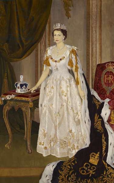 H.M. Queen Elizabeth II (oil on canvas)